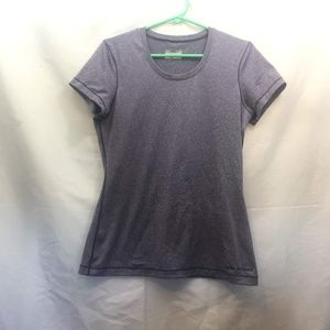 Under Armour Size L Purple Fitted Short Sleeve Top
